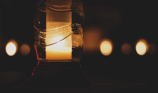 large hurricane candle holder